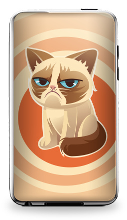 Наклейка на iPod Touch 3 - Сурове, грустне, котячне