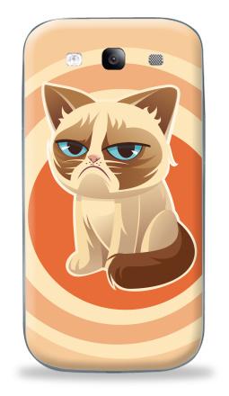 Наклейка на Galaxy S3 (i9300) - Сурове, грустне, котячне