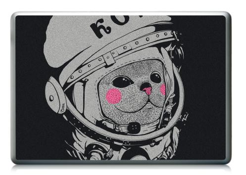 Наклейка на ноутбук - Ноутбук (любой размер) - Котэ-космонафтэ