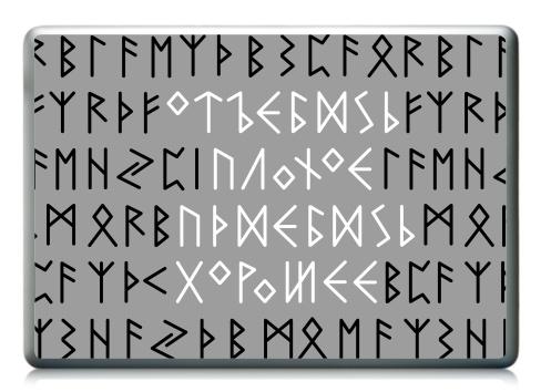 Наклейка на ноутбук - Ноутбук (любой размер) - Руны