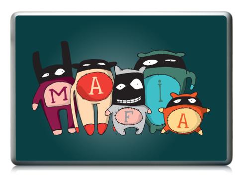 Наклейка на ноутбук - Ноутбук (любой размер) - The mafia