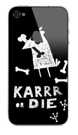 Наклейка на iPhone 4S, 4 (с яблоком) - Deadcrow