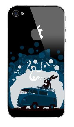 Наклейка на iPhone 4S, 4 (с яблоком) - Night Scene '11