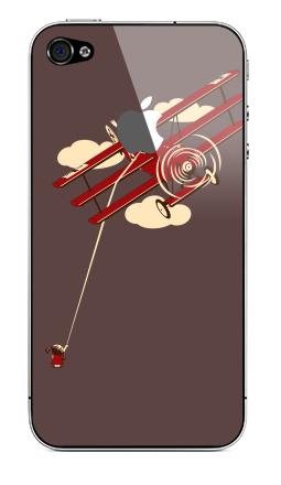 Наклейка на iPhone 4S, 4 (с яблоком) - Pilot