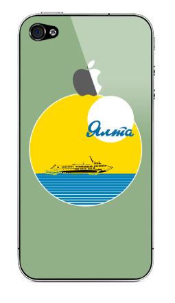 Наклейка на iPhone 4S, 4 (с яблоком) - Ялта