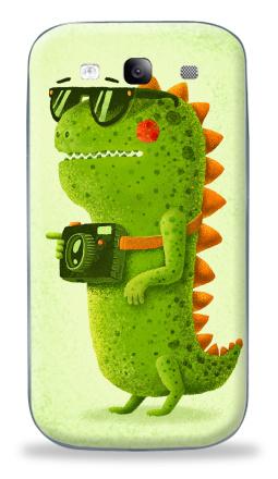 Наклейка на Galaxy S3 (i9300) - Dino touristo hipsto