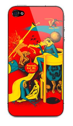 Наклейка на iPhone 4S, 4 - Вызов на Сады