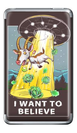 Наклейка на iPod Classic - I want to believe