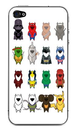Наклейка на iPhone 4S, 4 - My heroes