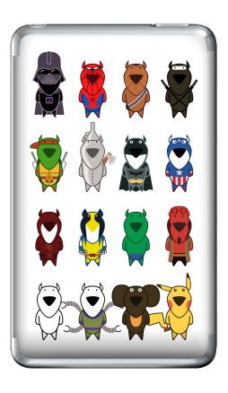 Наклейка на iPod Classic - My heroes