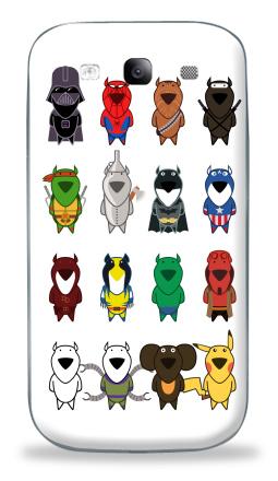 Наклейка на Galaxy S3 (i9300) - My heroes