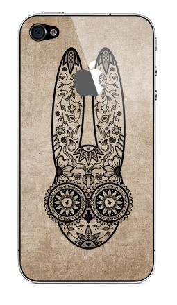 Наклейка на iPhone 4S, 4 (с яблоком) - Day of the Dope