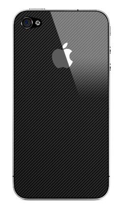 Наклейка на iPhone 4S, 4 (с яблоком) - Наклейка под карбон