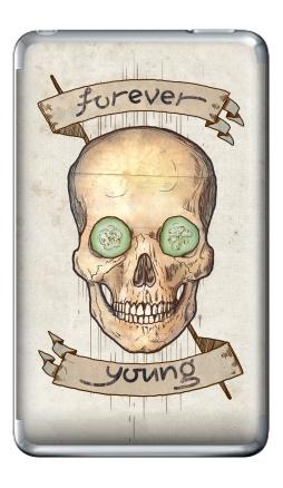 Наклейка на iPod Classic - Forever young (вечно молодой)