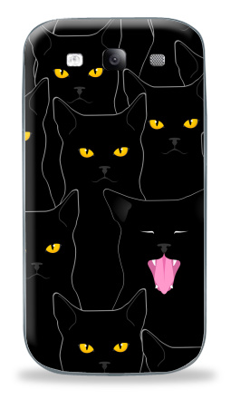 Наклейка на Galaxy S3 (i9300) - Котики detected