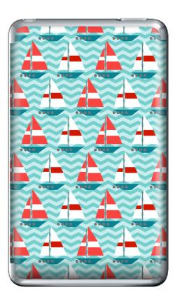 Наклейка на iPod Classic - Кораблики