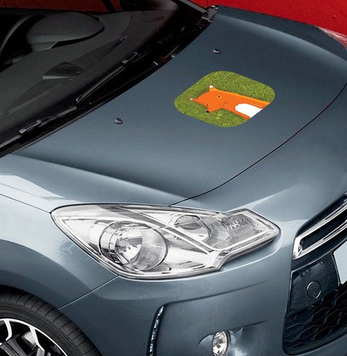Fox - наклейки на авто
