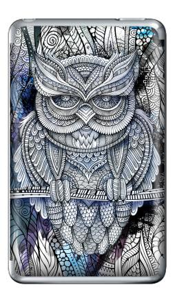 Наклейка на iPod Classic - Doodle owl