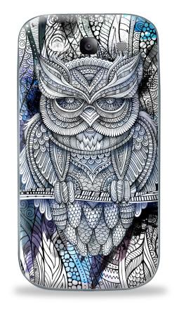 Наклейка на Galaxy S3 (i9300) - Doodle owl