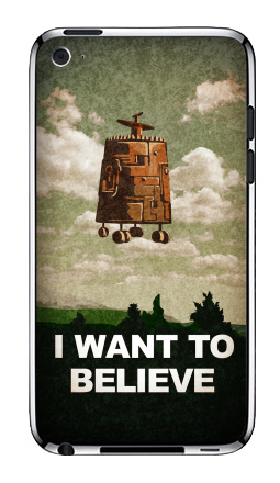 I want to believe - Виниловые наклейки на iPod Touch 4