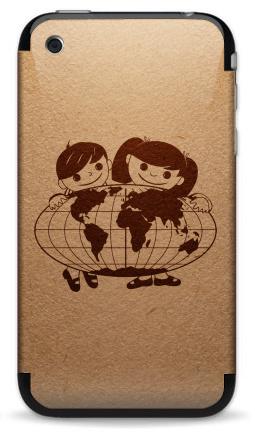 Наклейка на iPhone 3G, 3Gs - Из детства...