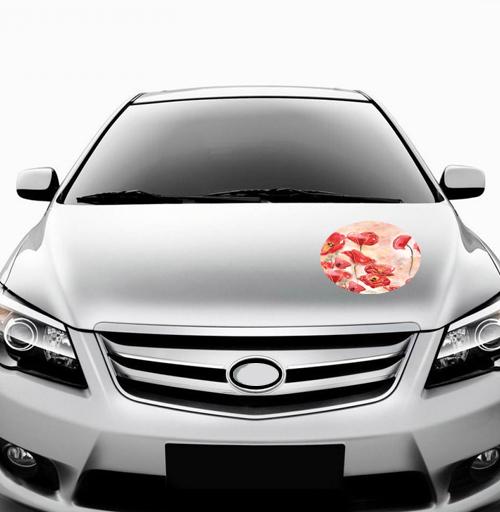 Маки - наклейки на авто
