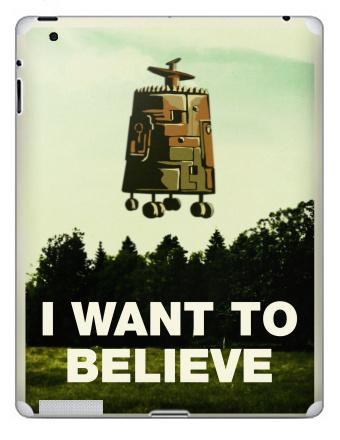 Наклейка на планшеты - iPad 4 Retina - I want to believe