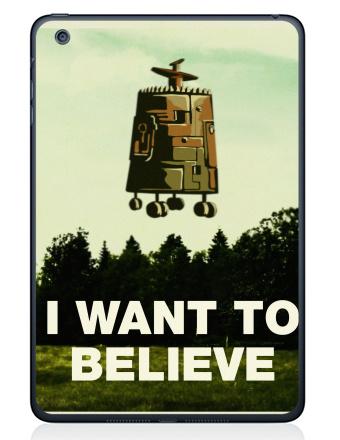 Наклейка на планшеты - iPad Mini 4 - I want to believe
