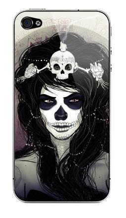 Наклейка на iPhone 4S, 4 - Santa Muerte