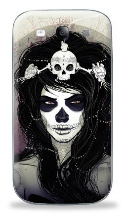 Наклейка на Galaxy S3 (i9300) - Santa Muerte