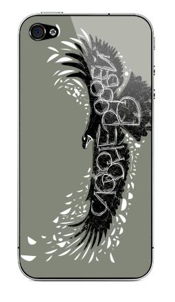 Наклейка на iPhone 4S, 4 - Слово не воробей