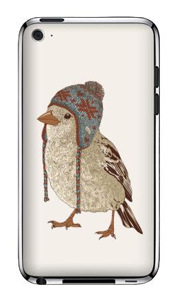 Наклейка на iPod Touch 4 - Птица в шапке