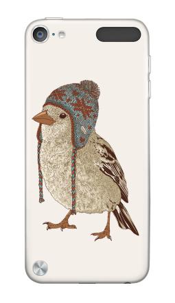 Наклейка на iPod Touch 5th gen. - Птица в шапке