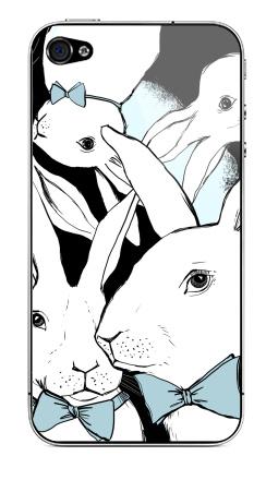 Наклейка на iPhone 4S, 4 - Boys Bunny