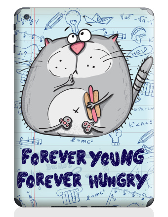 Russian Student - forever young - forever hungry - Прикол, Наклейки на iPad Air