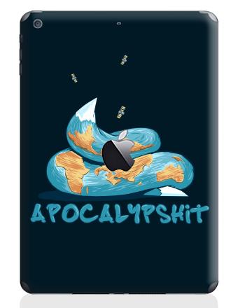 Наклейка на планшеты - iPad Air с яблоком - Apocalypshit 2012