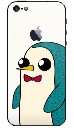 Наклейка на iPhone 5 с яблоком - Новогодний Гюнтер