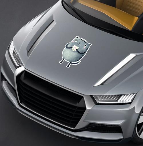 Кот I♥kill - наклейки на авто