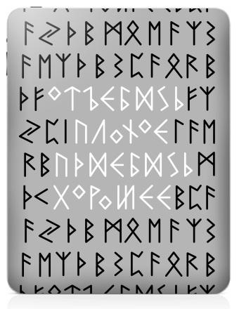 Наклейка на планшеты - iPad - Руны