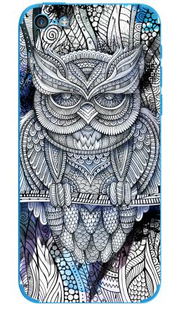 Наклейка на iPhone 5C - Doodle owl