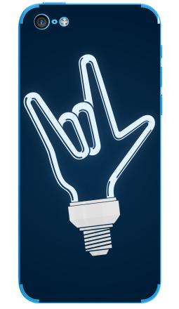 Наклейка на iPhone 5C - Рок-лампочка