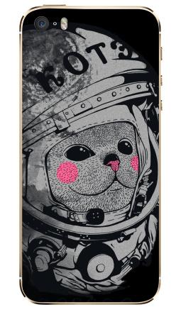 Наклейка на iPhone 5S, 5SE - Котэ-космонафтэ