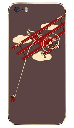 Наклейка на iPhone 5S, 5SE - Pilot