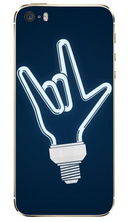 Наклейка на iPhone 5S, 5SE - Рок-лампочка