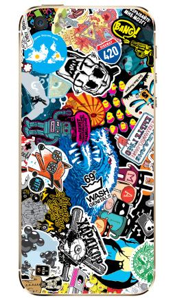 Наклейка на iPhone 5S, 5SE - Стикербомбинг Stickerbombing