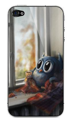 Наклейка на iPhone 4S, 4 - Vanilla Owl
