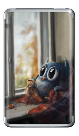 Наклейка на iPod Classic - Vanilla Owl