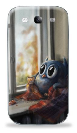 Наклейка на Galaxy S3 (i9300) - Vanilla Owl