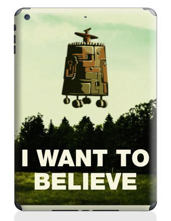Наклейка на планшеты - iPad Air - I want to believe