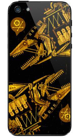 Наклейки для iPhone 5 Киберпанк